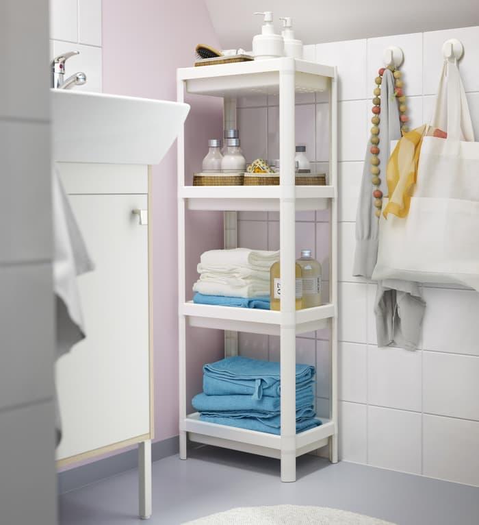 Unit Lemari Rak Plastik Dapur Kamar Mandi 4Susun Ikea Vesken Organizer - Jual Produk Furnitur & Dekorasi Original Berkualitas