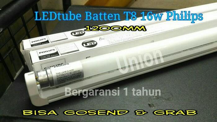 Hemat 10%!! Lampu Tl T8 Ecofit Led Philips + Udh Sama Bohlam Putih 16 Watt 120 Cm - ready stock