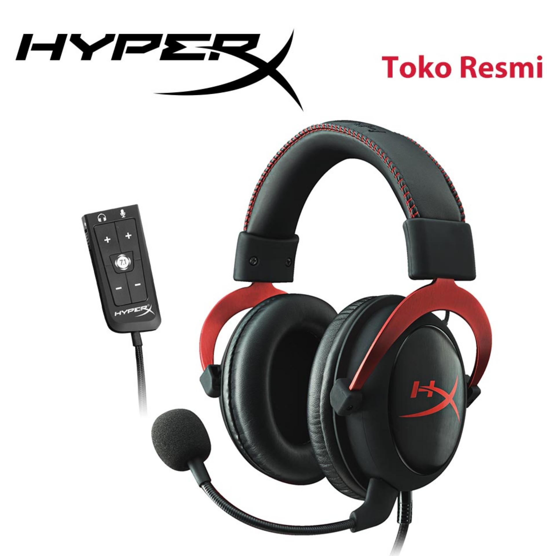 Headset Game HyperX Cloud II Red Virtual Surround Sound untuk PC, PS4, Xbox One, Mobile (KHX-HSCP-RD)