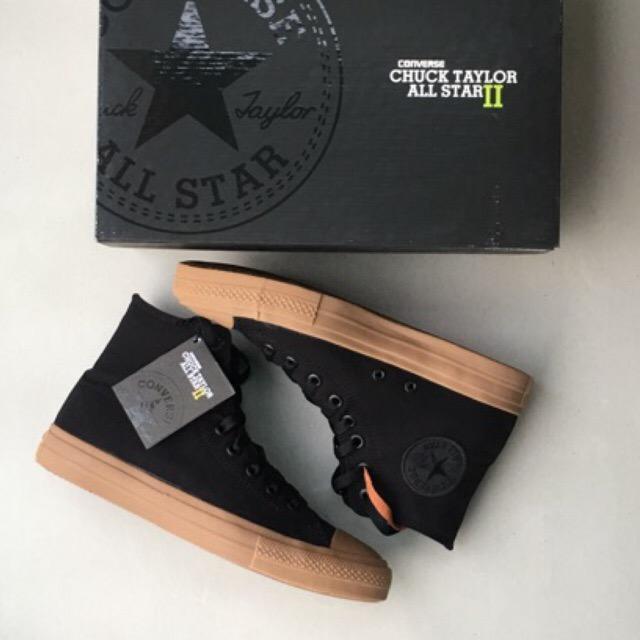 Sneakes Pria Converse Chuck Taylor 2 Black Gum Original Import Vietnam