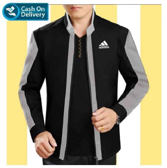 jaket combo AH abu hitam VL] jaket pria babyterry/ jaket korea style