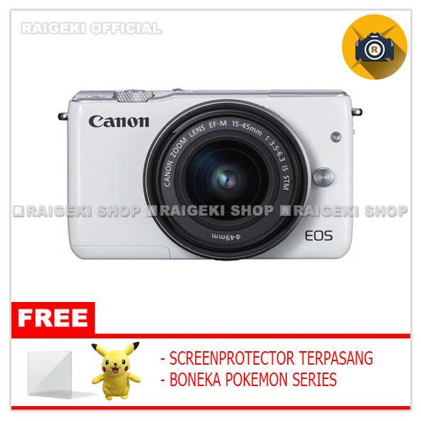 Canon EOS M10 Kit 1 15-45mm f/3.5-6.3 IS STM Kamera Mirrorless (Free Screenguard Terpasang + Boneka Pokemon)