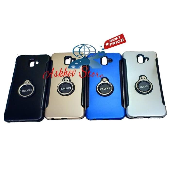 Case Ring Compatible For Samsung J6+ J6 Plus slim cover carbon soft 360