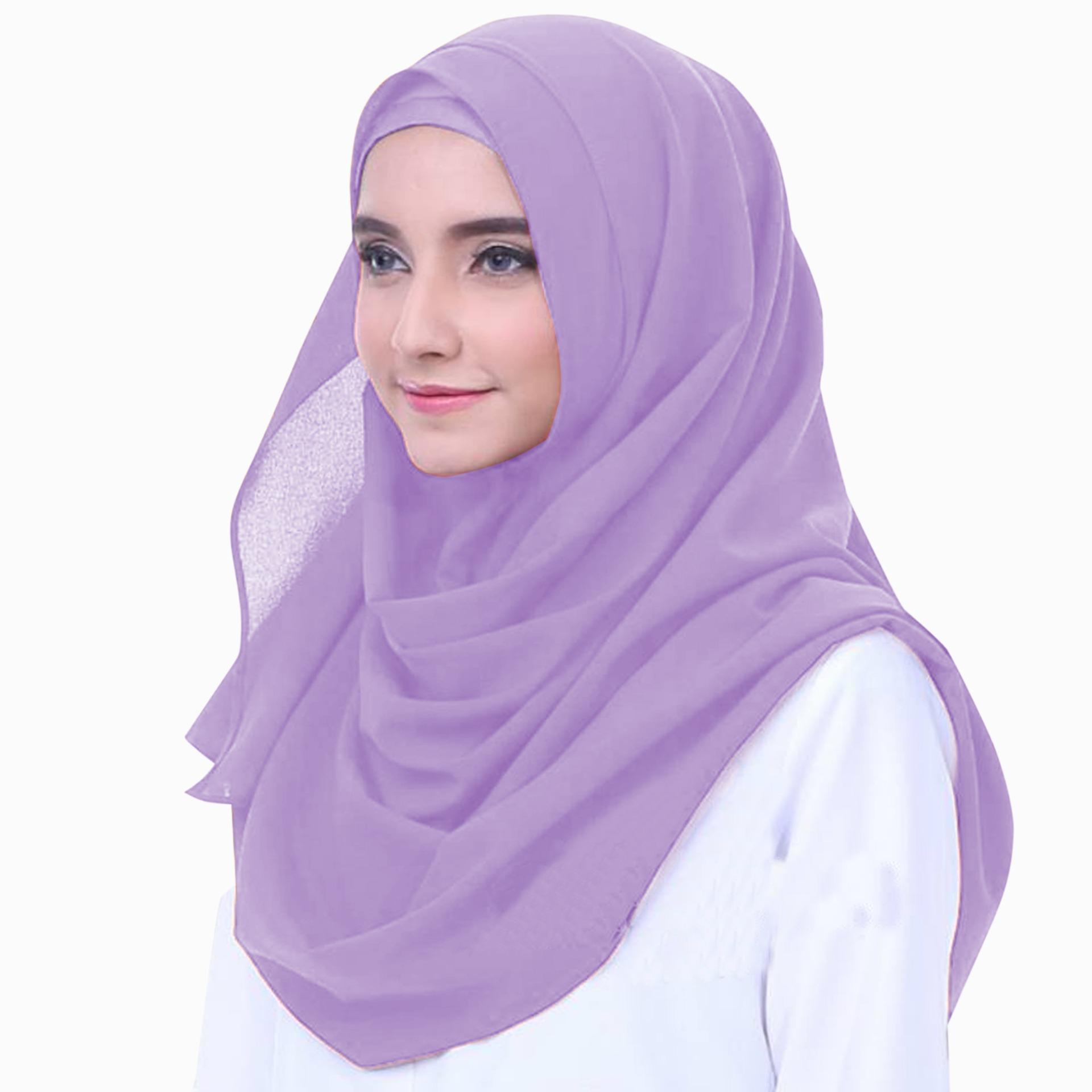 Merina Hijab Pashmina Instan Ceruti [Warna Lavender]
