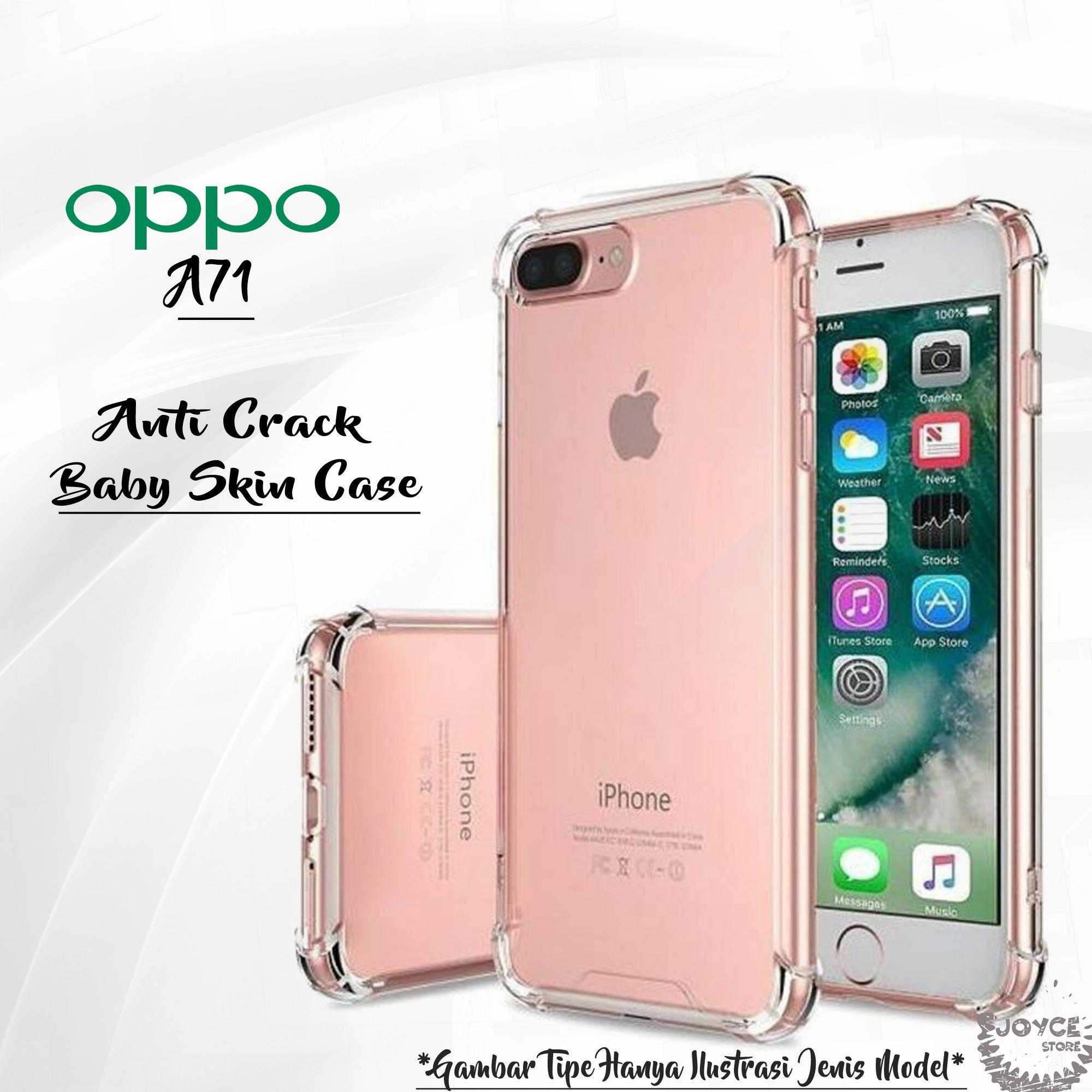 Joyce Soft Silicon for Oppo A71 Slim Matte Black / Anti Crack Case Baby Skin