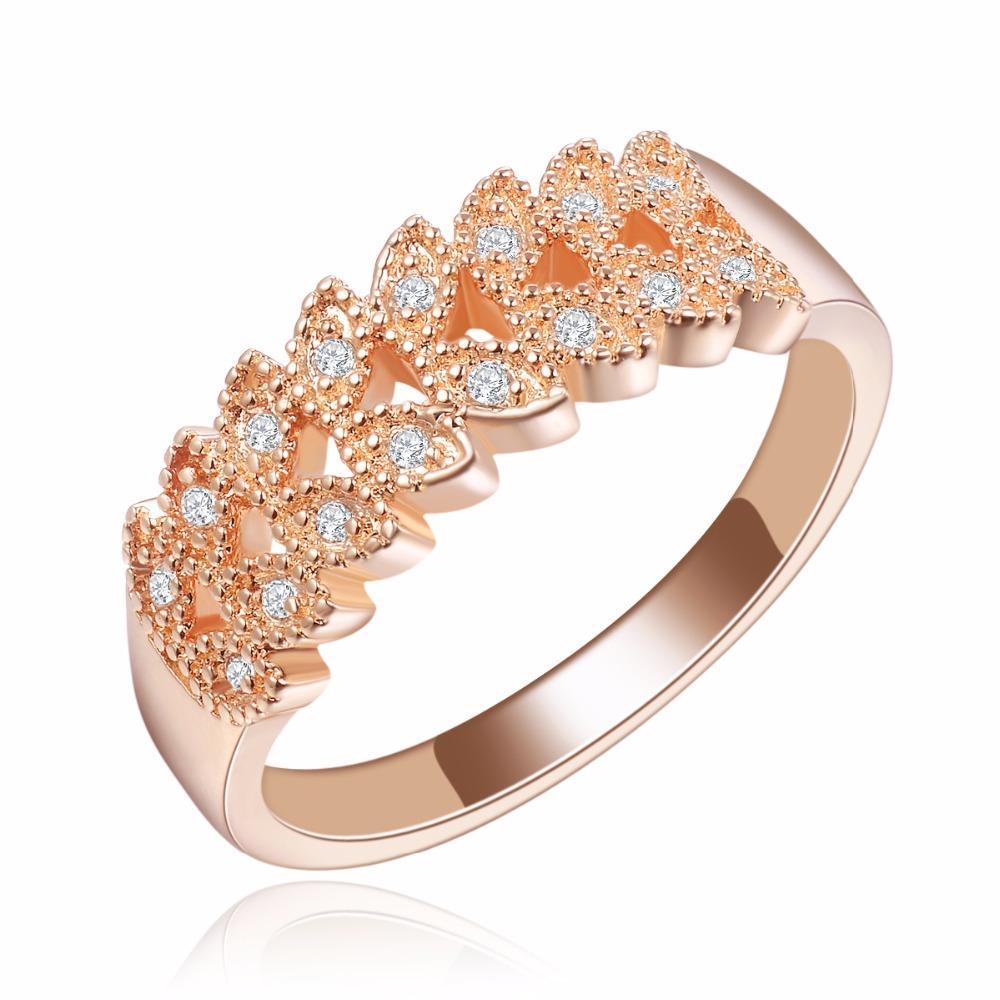 Diskon Promo Perhiasan Aksesoris Cincin Berlian Lapis Emas Rose Gold Perhiasan Imitasi Wanita BR081 Murah