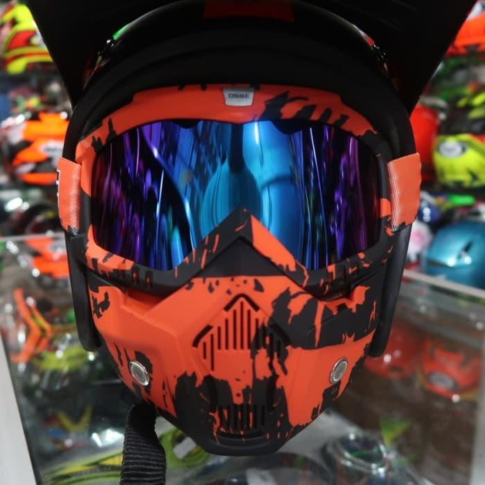 Helm Bogo MV Cross Army Orange