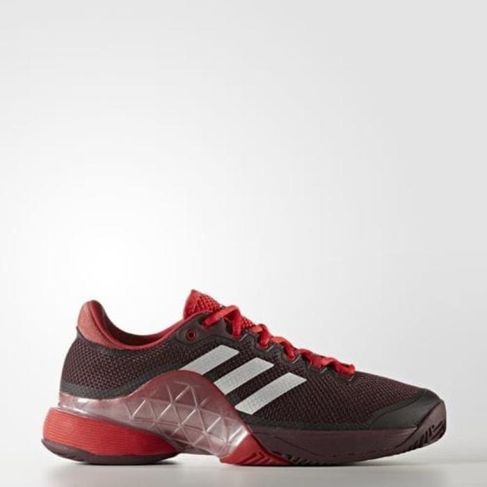 Sepatu Tennis Adidas Barricade 2017 - Maroon/Red Original
