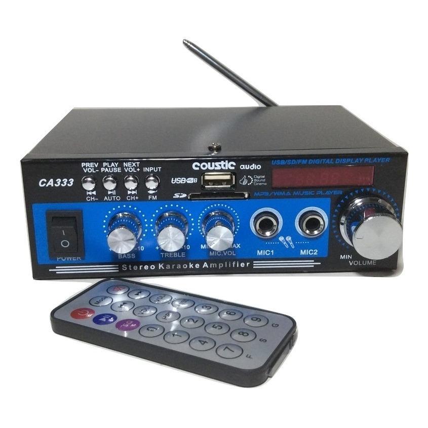 Amplifier mini Mp3 usb,Radio Stereo AC/DC Coustic CA333 Karauke