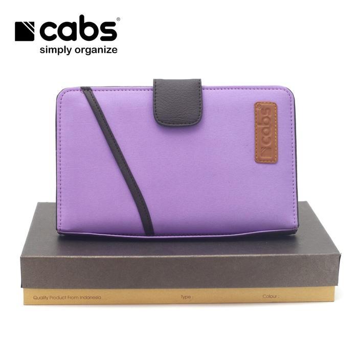Cabs Pocket Cross - Dompet Wanita & Pria HPO Organizer Unik Cantik Dompet Kartu Branded Serbaguna Dompet Lokal Cewek Cowok Wallet Card Holder Multifungsi - Purple