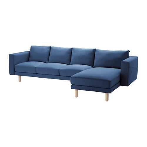 PROMO!! IKEA NORSBORG Sarung sofa 3 dudukan dg chaise l, Edum biru tua MURAH /  BUBBLE 3 LAPIS / ORIGINAL / IKEA ORIGINAL