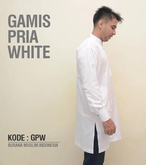 Baju Gamis Premium Pria Pakistan - White - Jubah Muslim Casual - Baju Koko Ekslusif