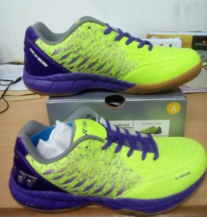 Sepatu Badminton Yonex Court Ace Tough Hijau Ungu Green Purple ... cf39f3a547