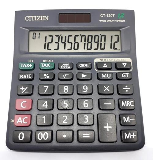 Citizen CT 120T Calculator Kalkulator Penghitung Chek and Correct 12 Digit  2 Power f5e498ac4c