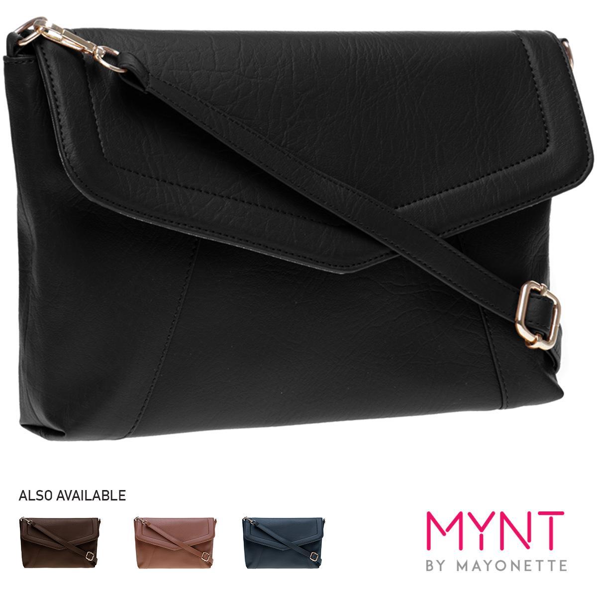 MYNT by Mayonette Tas wanita Tas Fashion Tas Selempang Crossbody Branded Trendy Bags Felipe Sling (Hitam)