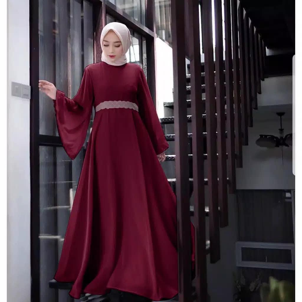 Baju Original Icha Dress ER Bahan Balotelli Pakaian Wanita Muslim Terbaru  Fashionable 2018 508504afdc