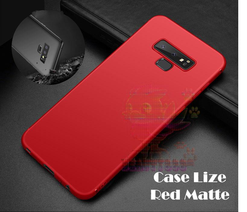 Lize Case Samsung Galaxy Note 9 Rubber Silicone Anti Glare Skin Back Case / Silikon Samsung Galaxy Note 9 / Jelly Case / Ultrathin / Soft Case Slim Red ...
