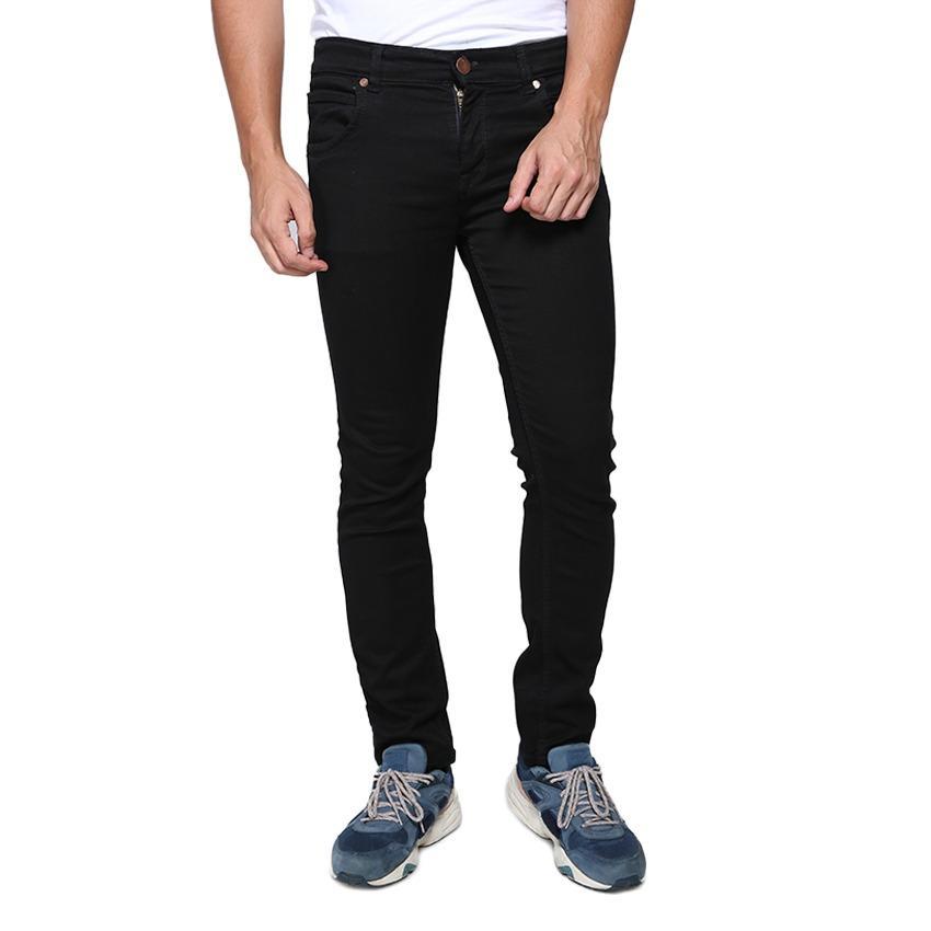 Celana Pria Skinny Fit - Celana Denim Street - Celana Murah Jahitan Rapi Resletig Kuat - Hitam