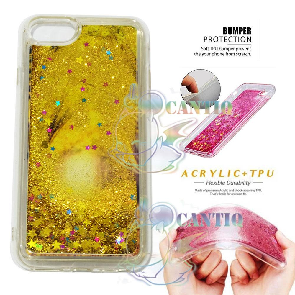 QCF Silicone Case Iphone 6 Ukuran 4.7inch Water Glitter / Silikon Iphone 6G Water Glamour