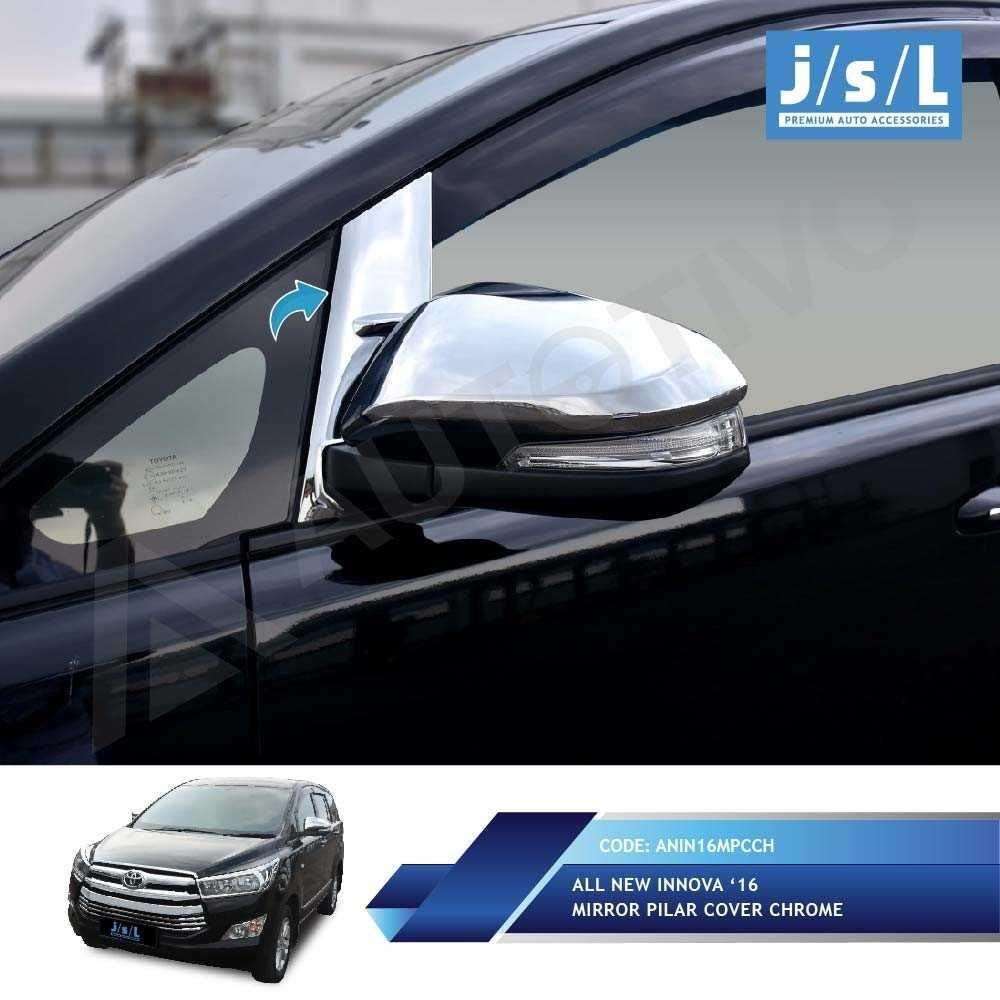 All New Innova Mirror Pillar Cover Chrome/ Aksesoris Toyota Innova