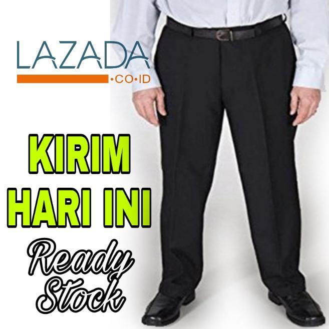 Celana Bahan Jumbo Size 39-44 - Celana Formal Panjang Pria Big Size Teflon Tebal