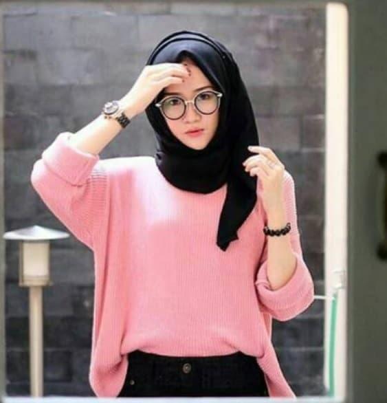 Sweater Rajut Boxy Wanita Jumbo - Dusty Pink fbca59ffab
