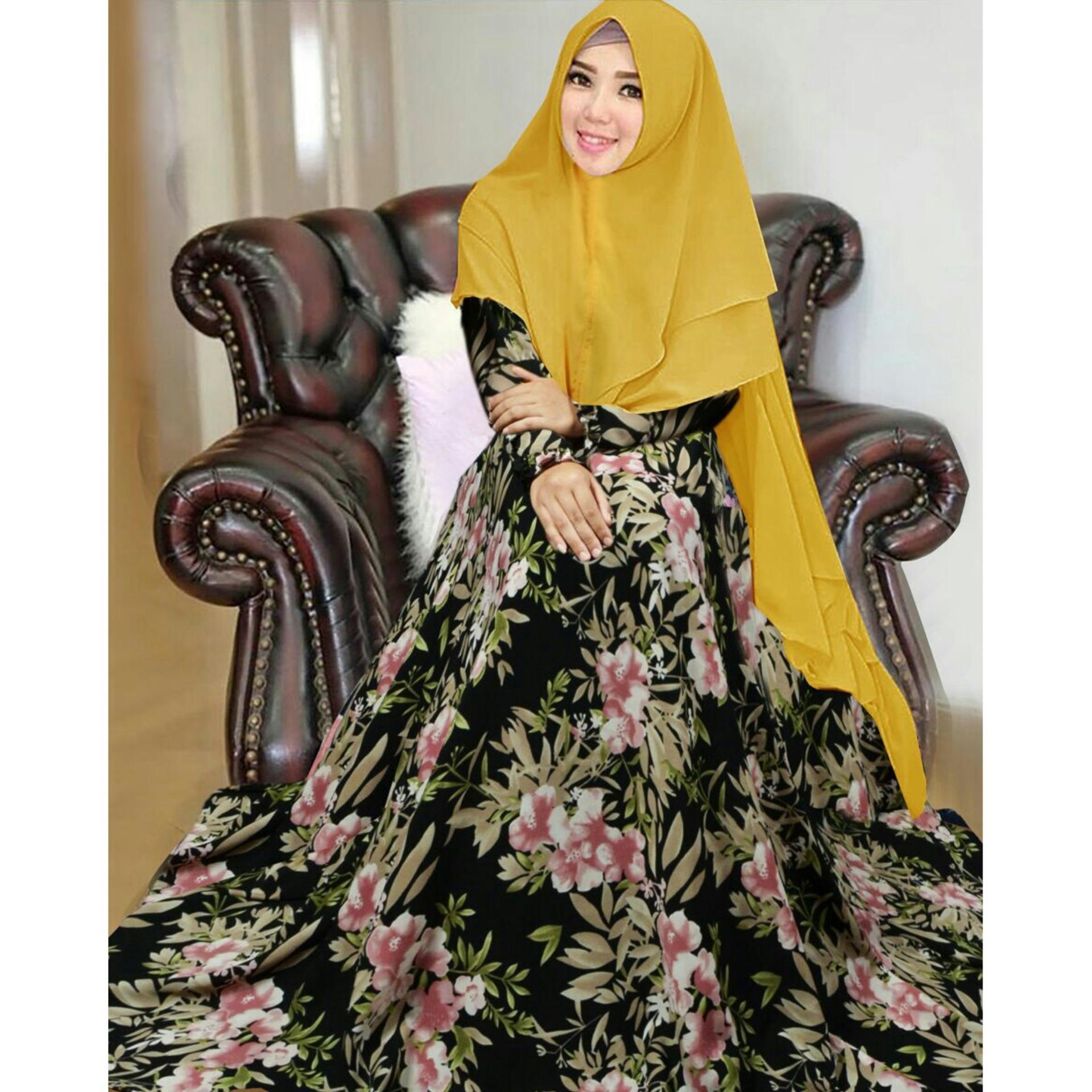 Jual Beli F Fashion Maxi Syari Hijab Bergo Narcisus Dress Muslimah Busana Muslim Wanita Gamis Baju Amorshop A0057 Pakaian Dan 098