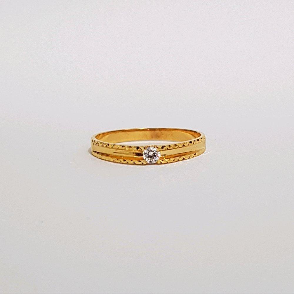 Size 18 Cincin Emas Asli Kadar 700 Simply Cristal Line