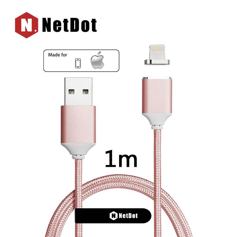 NetDot Gen2 Lightning ( iPhone ) Cepat Pengisian & Transfer Data Magnetik Kabel Anda Apple Perangkat