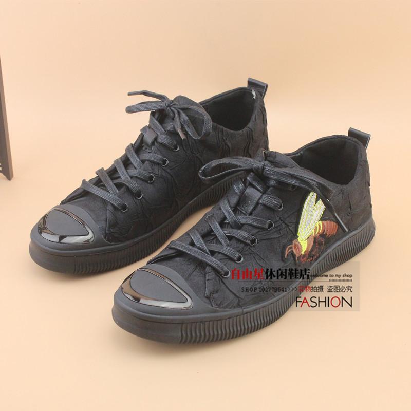 Kebebasan Bintang Sl8018 Produk Asli Musim Semi Produk Baru Kasual Sepatu Pria (Hitam)