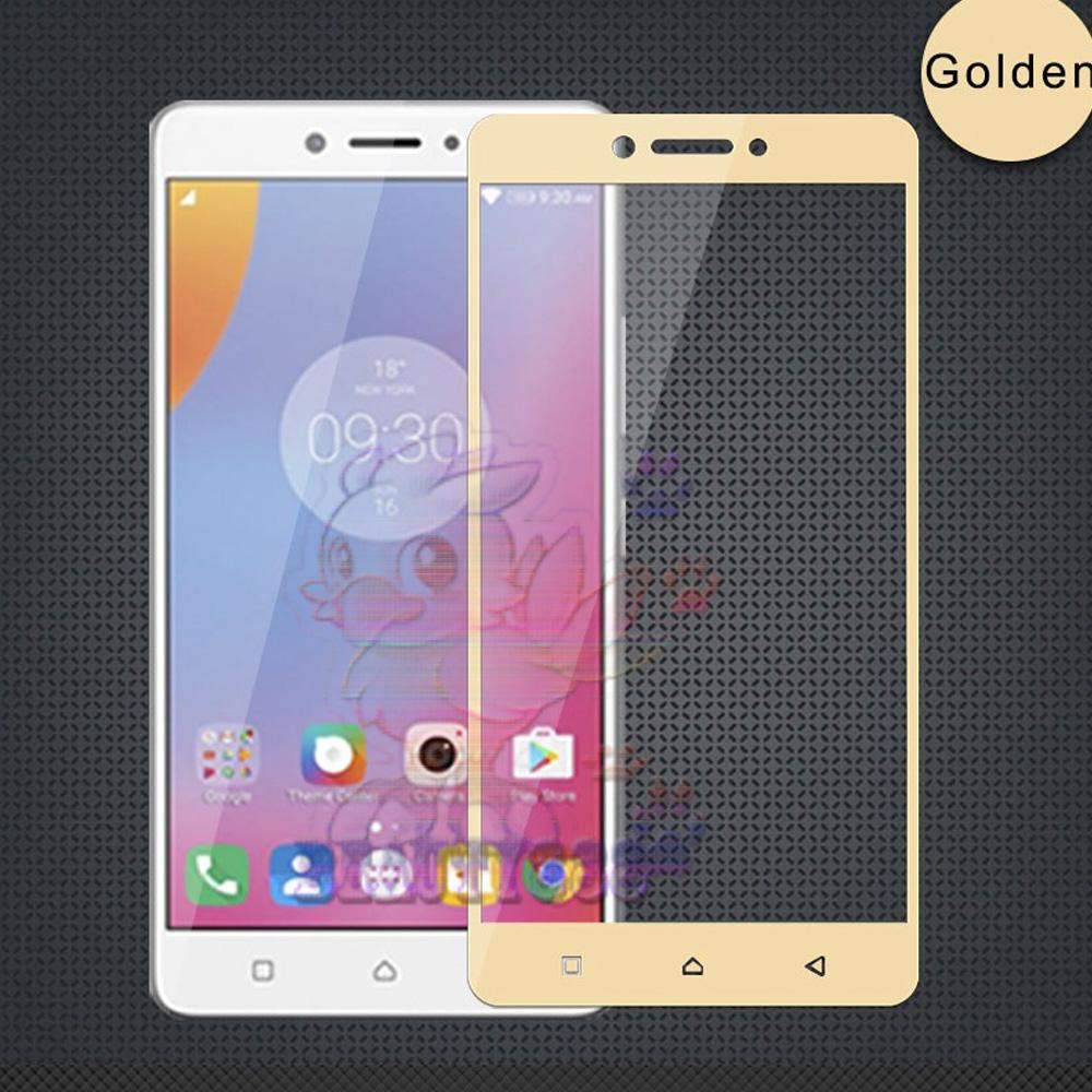 Tempered Glass Lenovo K6 Note 9H Full Screen Gold Screen Anti Gores Kaca / Screen Guard / Screen Pr