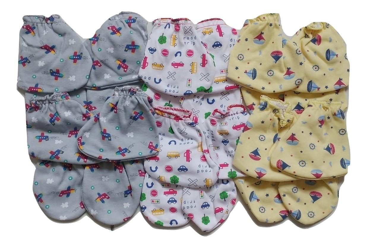 Jelova Angela 6 Pasang Sarung Tangan+ 6 Sarung Kaki Baby Bayi Little Owl  0-6 Months - for Baby UNISEX