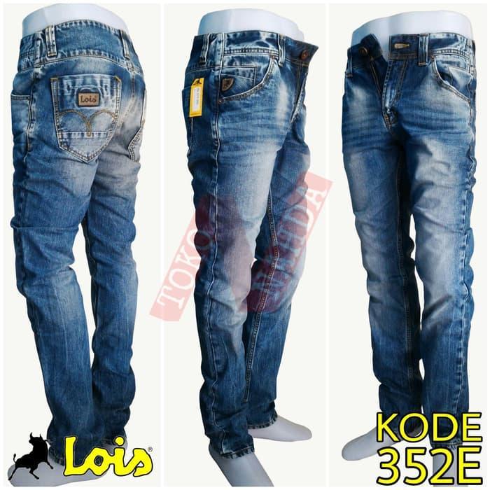 HARGA DISKON!!! Lois Jeans Original - Celana Jeans Pria Kode 352E - Biru Muda, 29