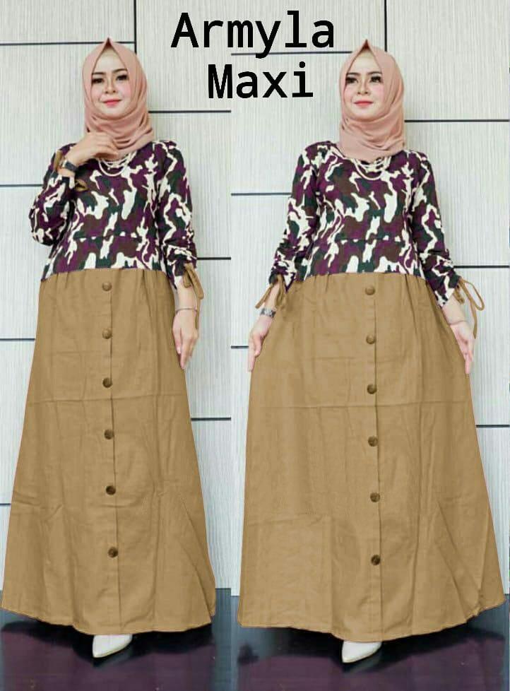 J C Dress Maxi Gamis Armyla   Dress Maxi   Maxi Muslim   Maxi Katun Dress   182e724297