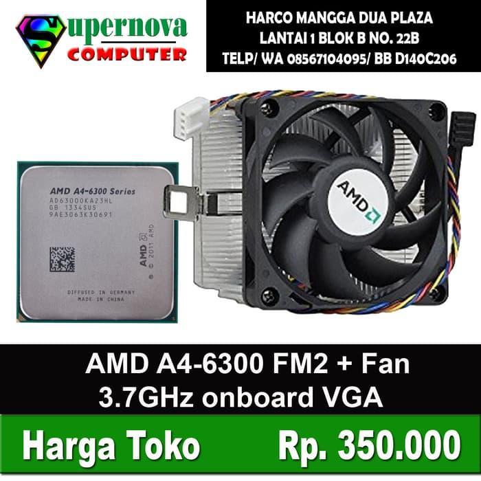 SALE - Processor AMD A4-6300 3.7GHz Socket FM2 + Fan