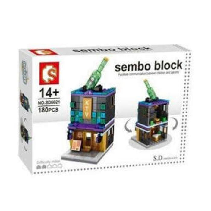 BEST SELLER!!! Lego Conpatible Sembo Block SD6021 SD 6021 Karaoke TV / KTV 180 Pcs - a9Hw3t