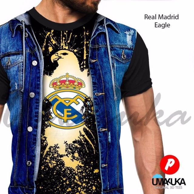 Baju Kaos 3D 4D Bola Umakuka Real Madrid Chelsea Termurah Glosir Pria Wanita Flash Sale Unisex Murah
