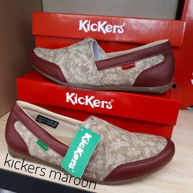 Sepatu Wanita Kickers slip on-casual collection-trendy-keren 6531096e79