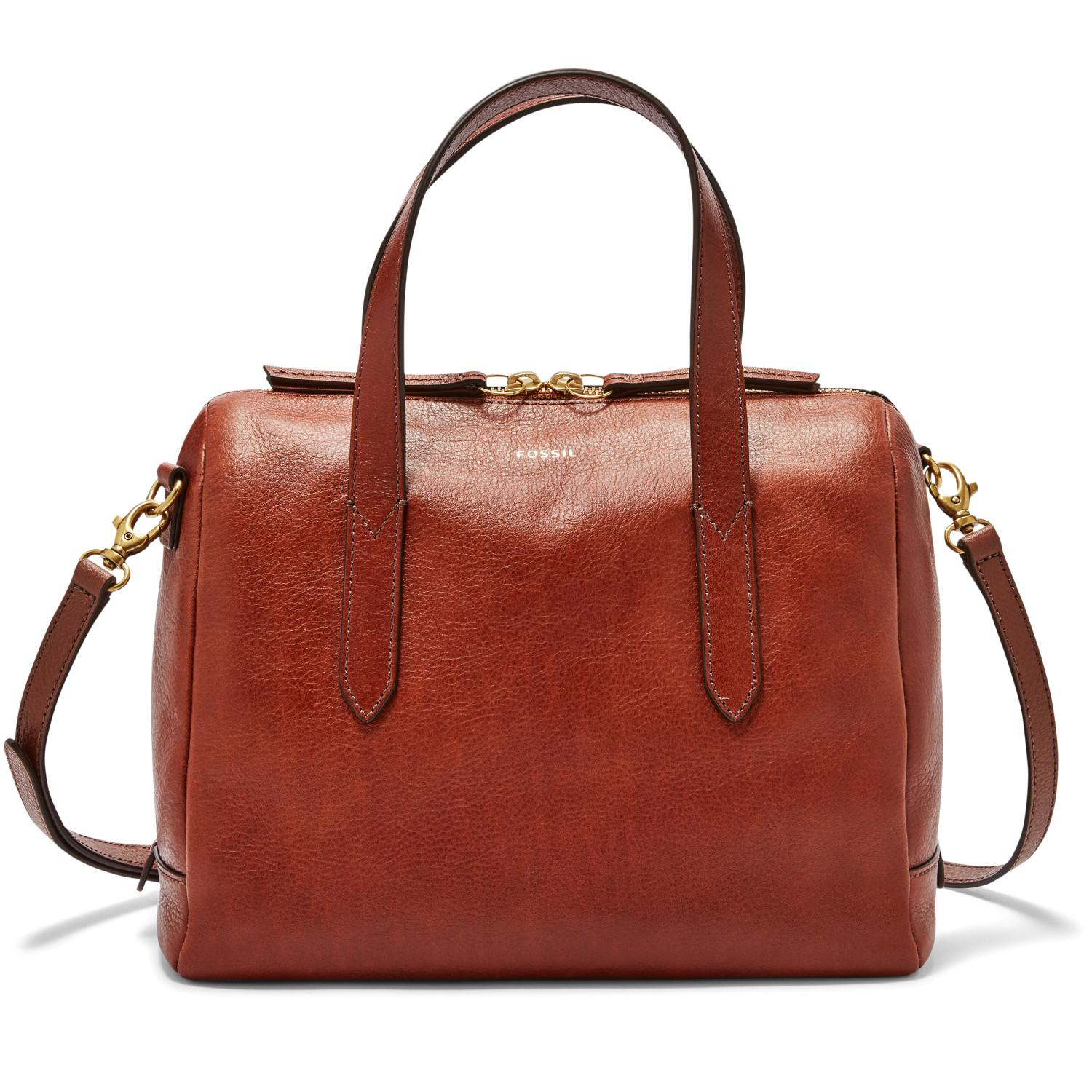 3bb629c14 Fossil Sydney Satchel – Medium Brown, SHB 1978210