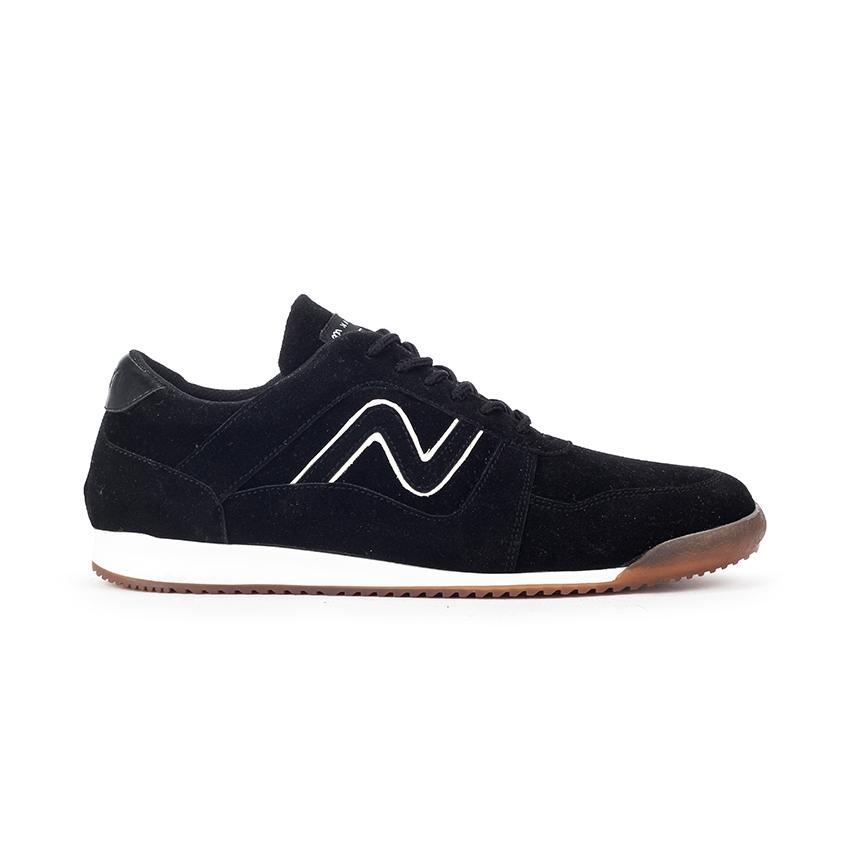 a1a867b0b1 Navara Footwear Carver Black - Sepatu Kulit Kasual Pria / Model Sneakers /  Sepatu Bertali Pria