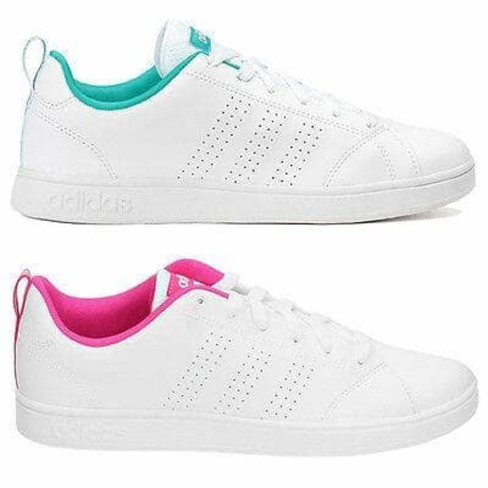 Sepatu Kets Sneakers Adidas Neo Advantage Full White Wanita Perempuan