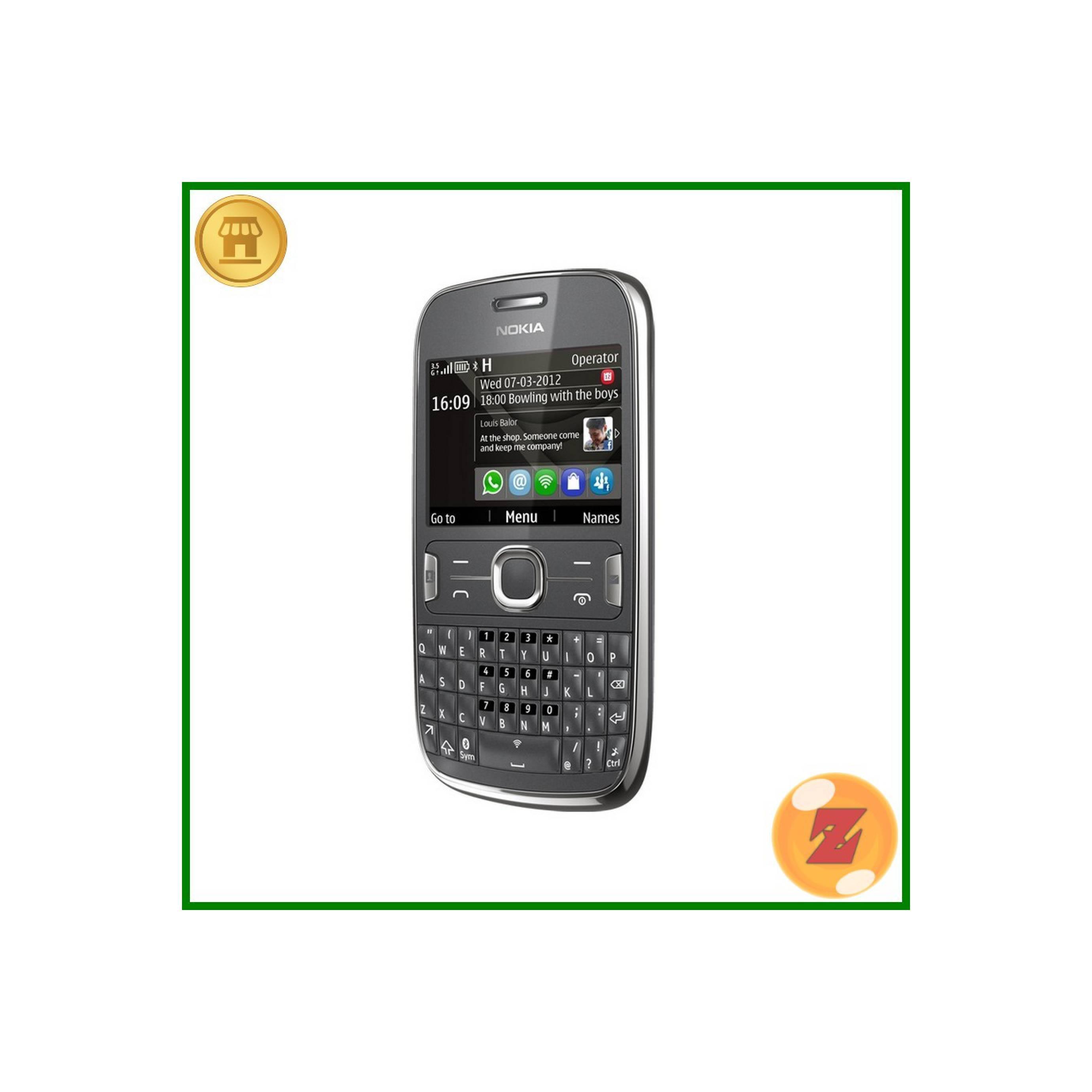 Nokia Asha 201 Hitam - HP Jadul Murah - Nokia Jadul Paling Dicari