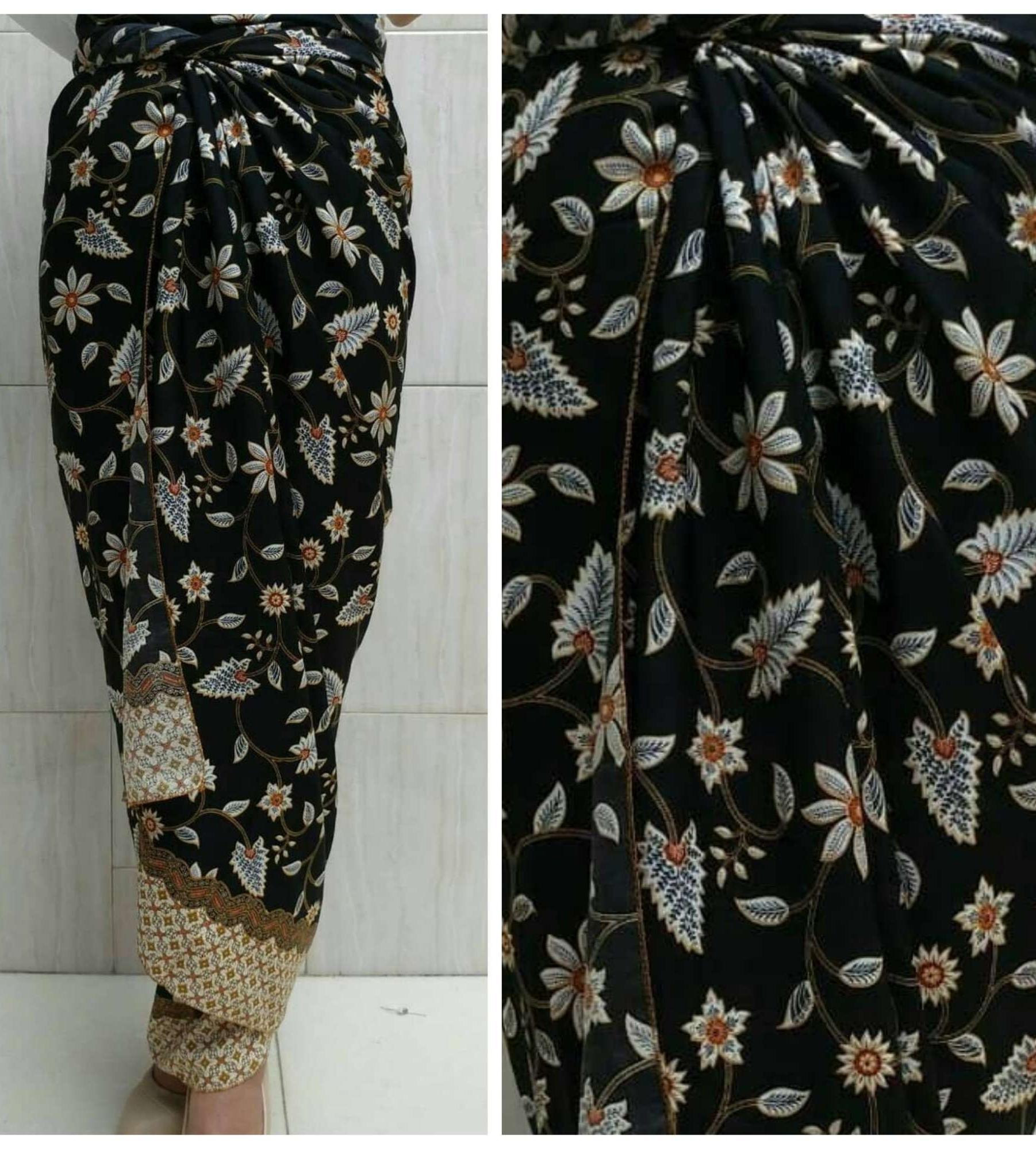 Rok lilit batik + ring gesper - kebaya jakarta grosir