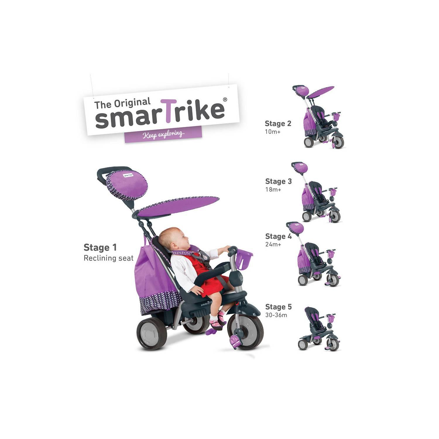Smart Trike Splash Purple Recliner