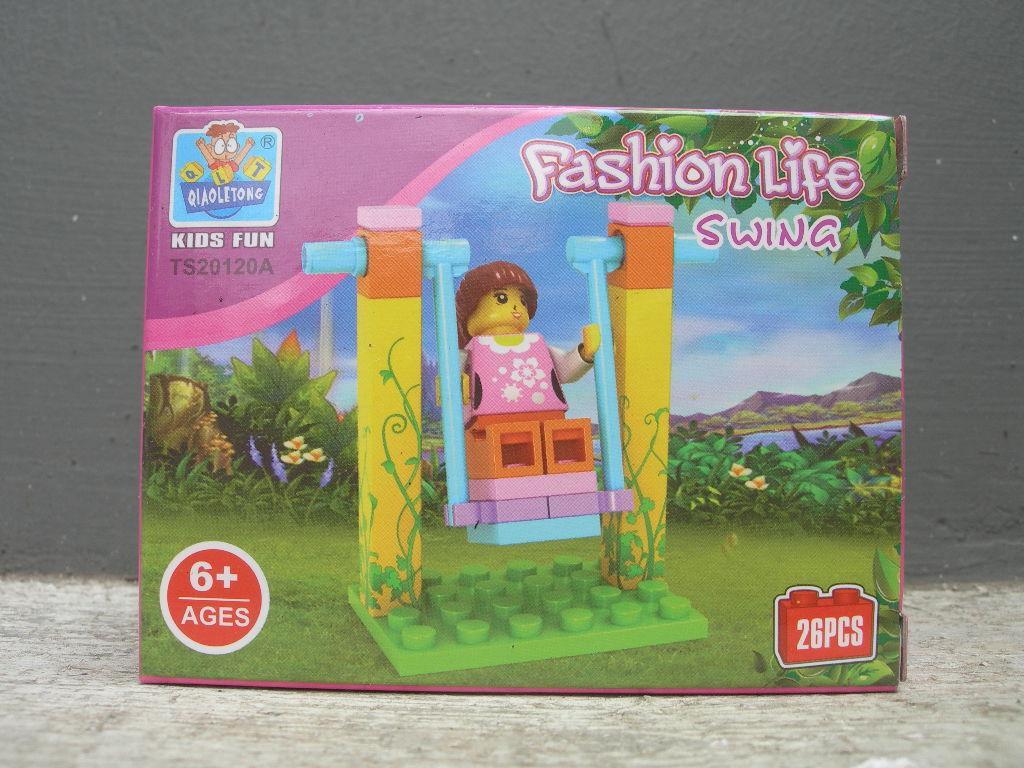 Gansatoy lego qiaoletong TS20120A fashion life swing gnz 490