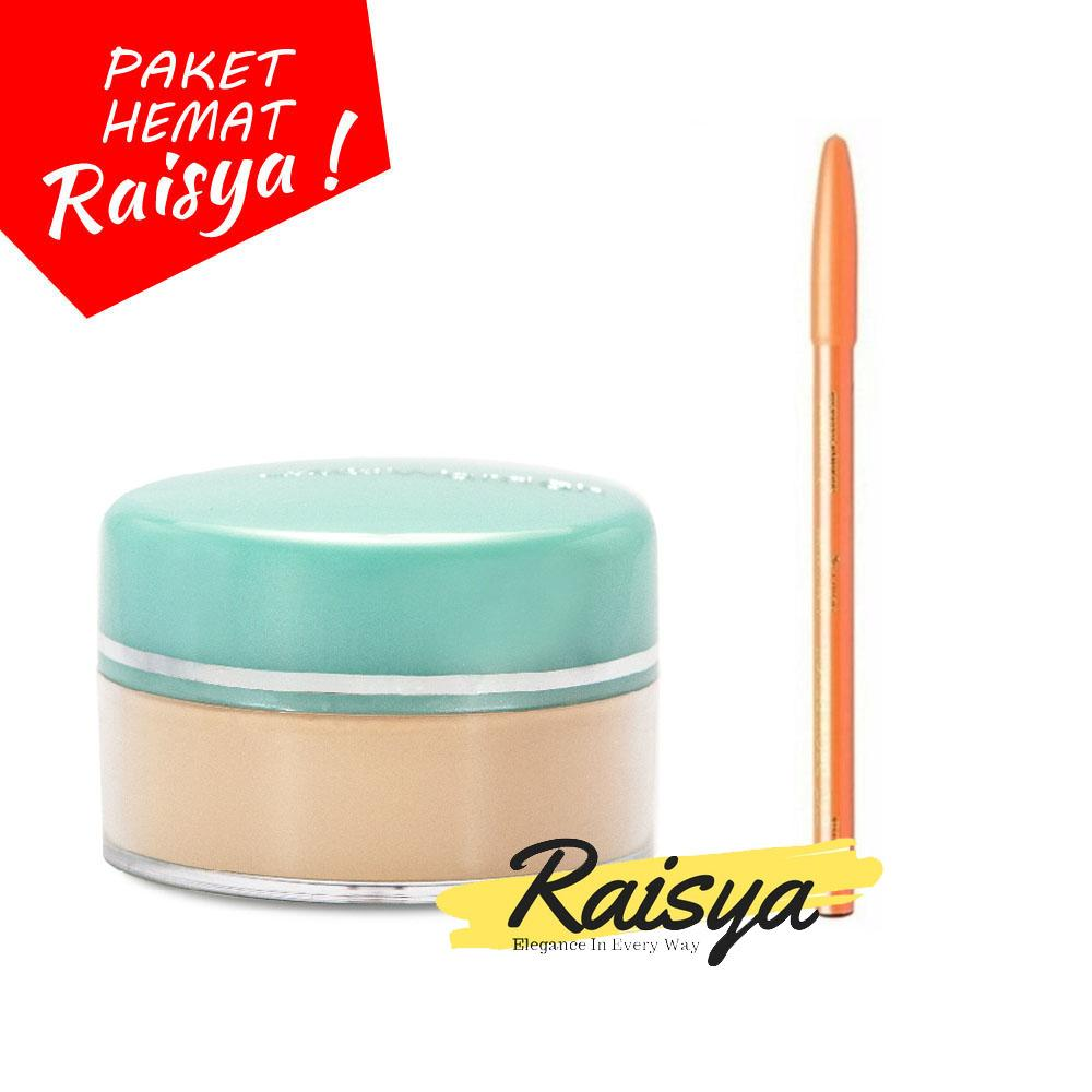 Wardah Everyday Luminous Face Powder - Bedak Tabur 01 Light Beige Free Davis Pensil Alis BPOM