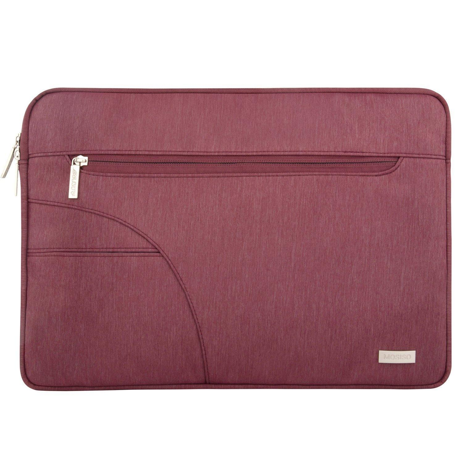 Tas Laptop Mosiso Red Wine Softcase Sleeve Case 14 - 14.6 inch