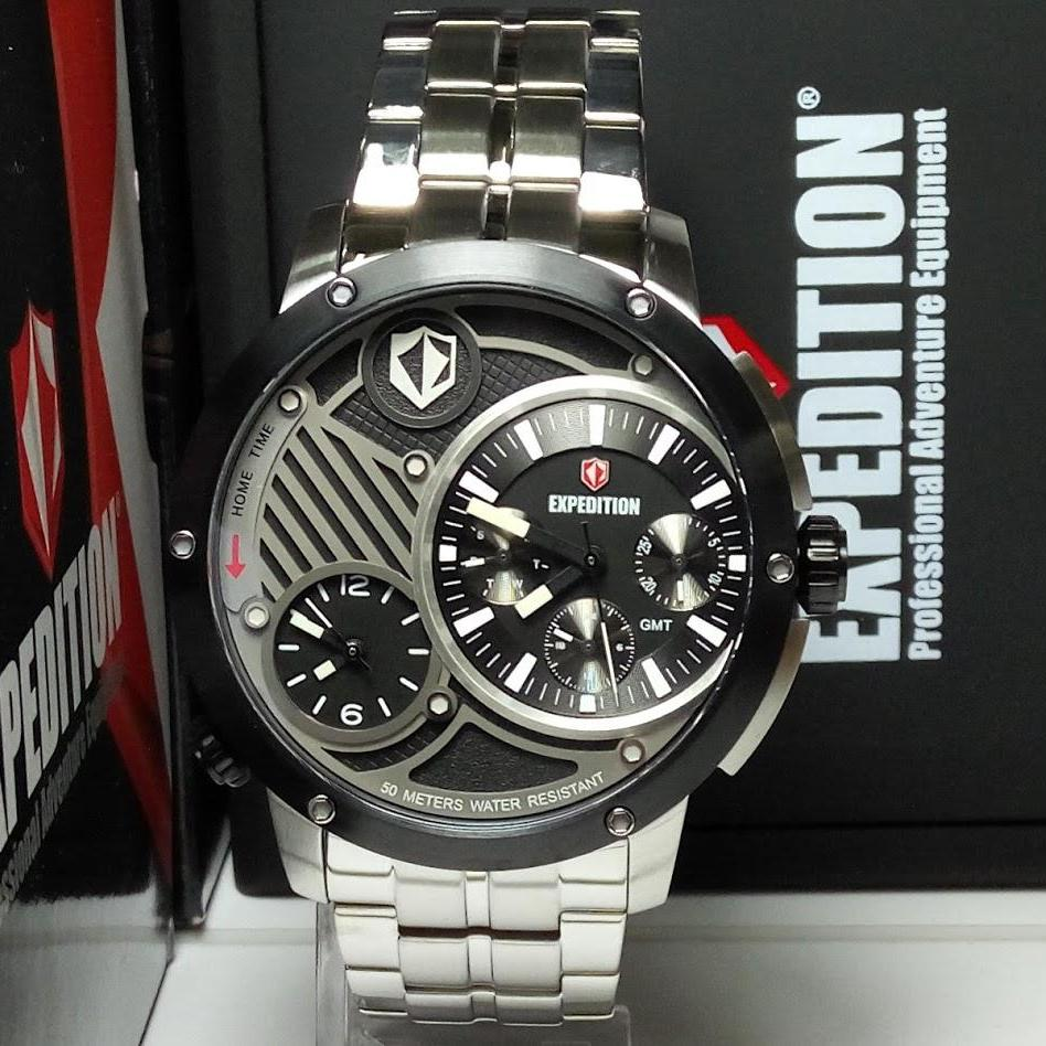 Harga Jual Expedition Jam Tangan Pria E6737mt Double Time E6737 Dual Hitam Rosegold E6736mt Silver Stainless Steel List