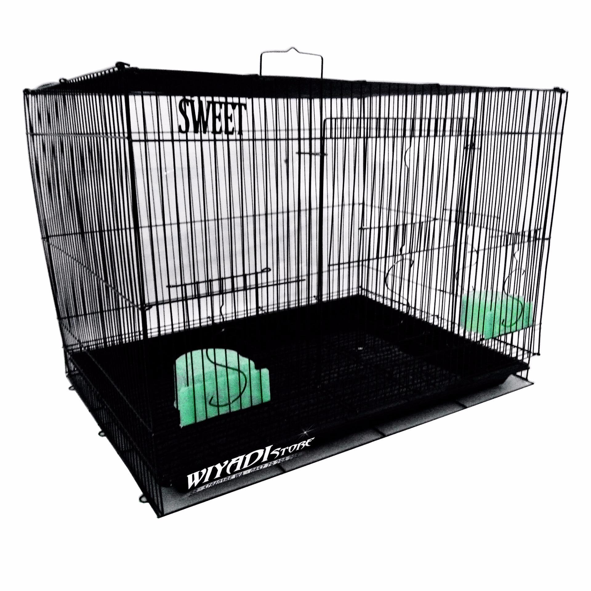 WiyadiStore - [K12] Kandang Kucing Besi Lipat Besar 60P - Black