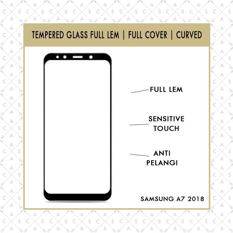 CASA Tempered Glass 5D for Samsung A7 2018 TRIPLE CAMERA - FULL LEM&FULL SCREEN